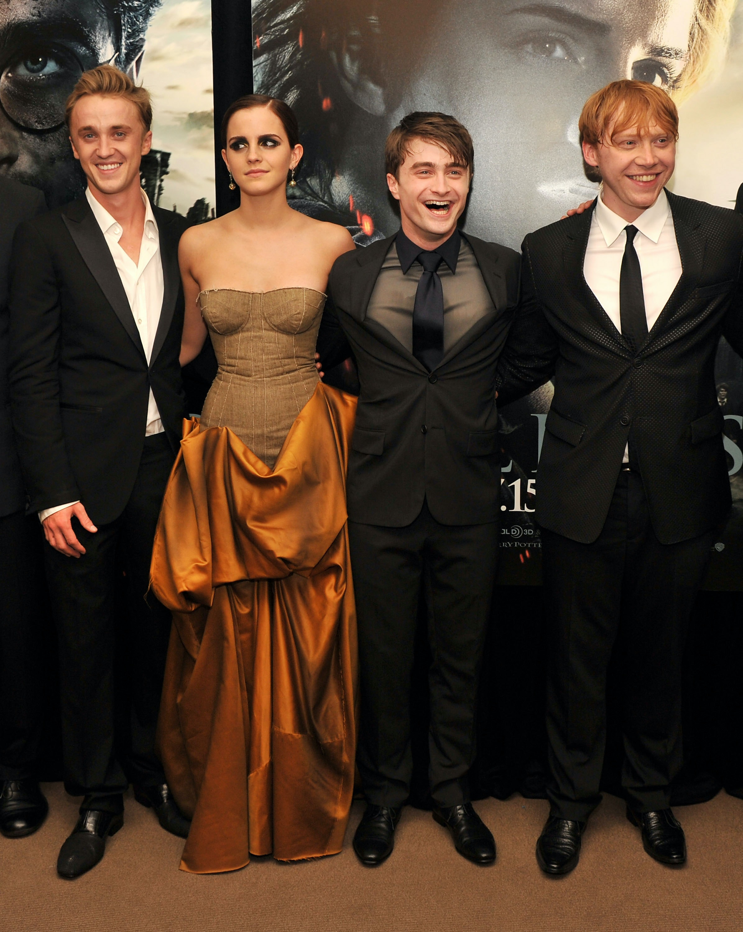 Emma Watson Tom Felton Reunited With Harry Potter Co Stars Photo