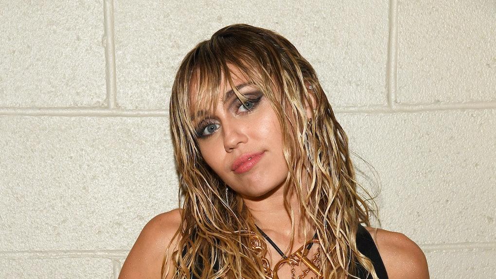 Miley Cyrus rocks head-to-toe leather.