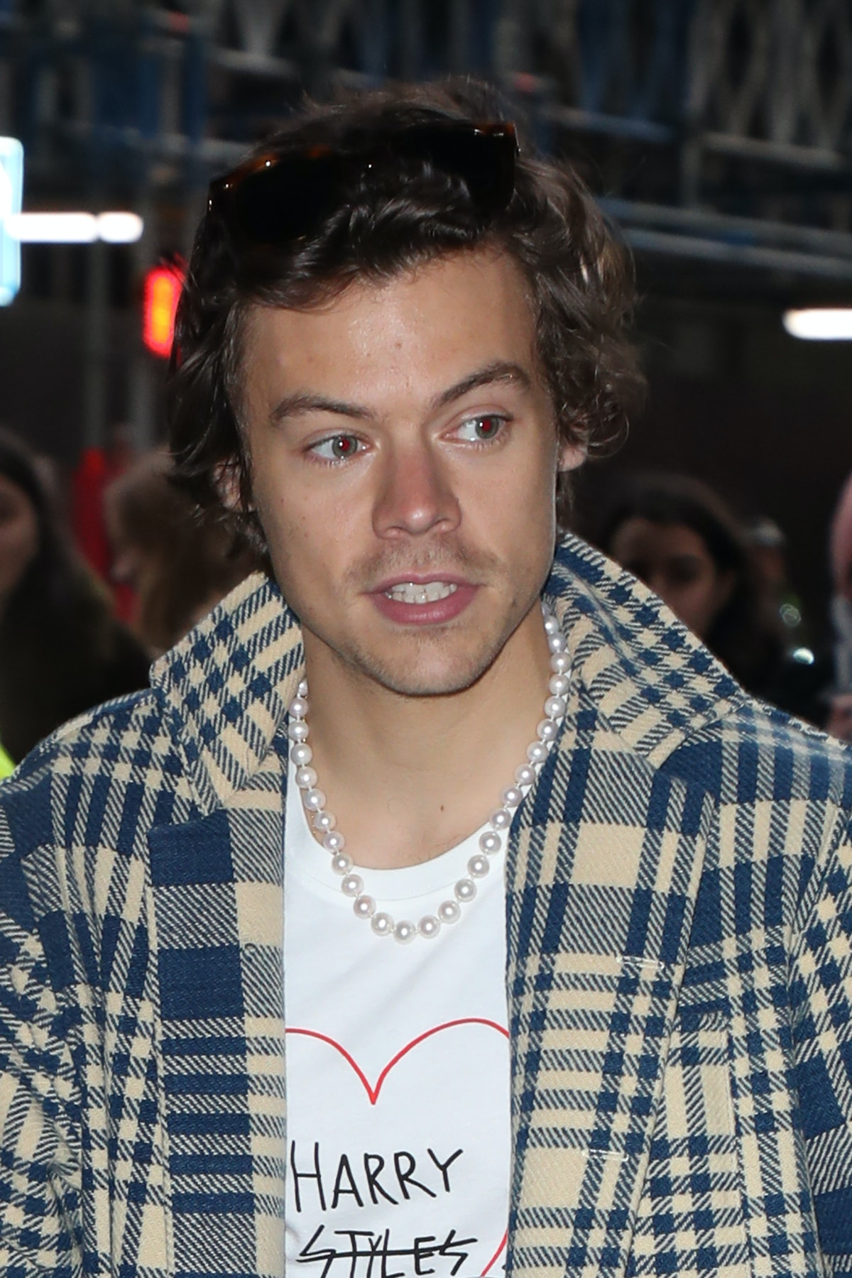 Harry Styles attends a taping at BBC Radio 1.