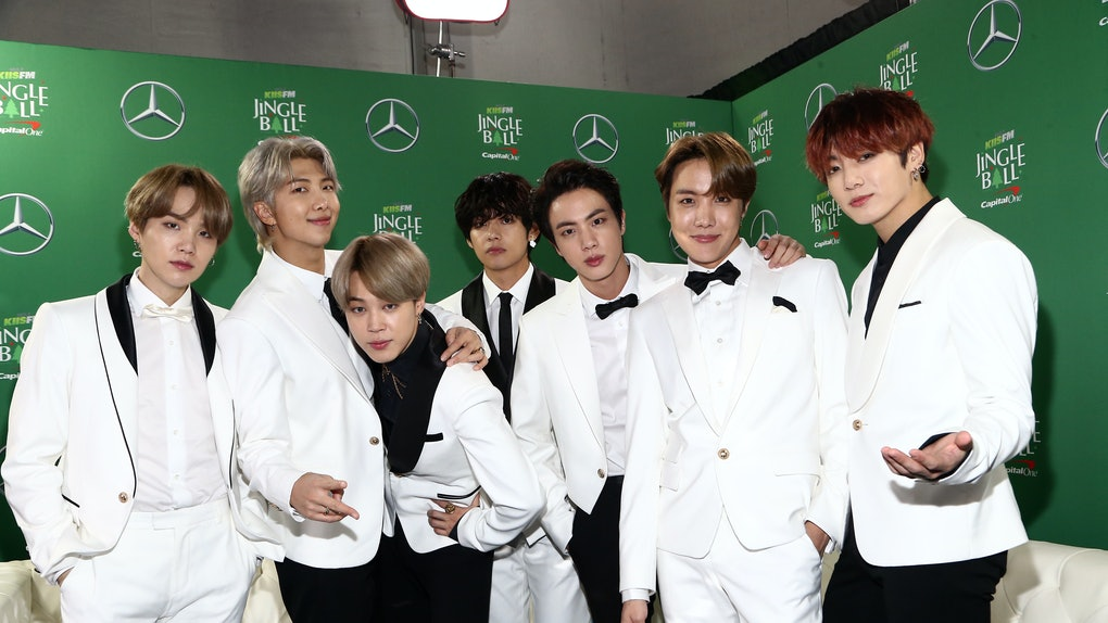 BTS at the 2019 holiday Jingle Ball concert. If you're looking for a gift idea for a member of the BTS ARMY, these 12 best holiday gifts for BTS fans are perfect.
