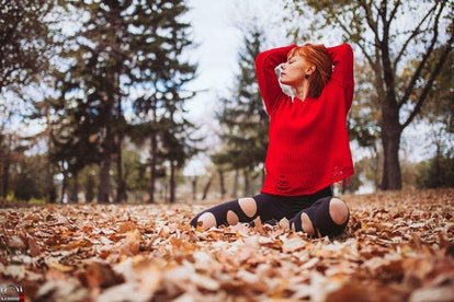 A woman does yoga in winter. Yogic breathing, meditation and other kinds of self-care can be helpful to remind yourself of your worth when you feel challenged during the holidays.