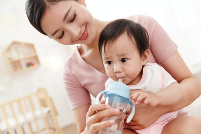 If your baby loves drinking water, their suck reflex might have a lot to do with it.