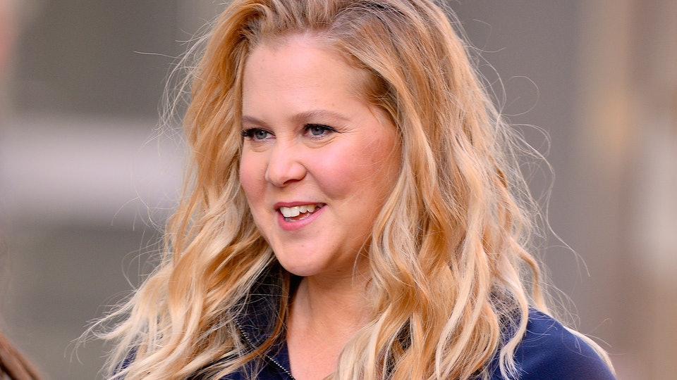 """Comedian Amy Schumer looked back on what she called a """"very good year"""" by sharing an intimate picture from her son's birth."""