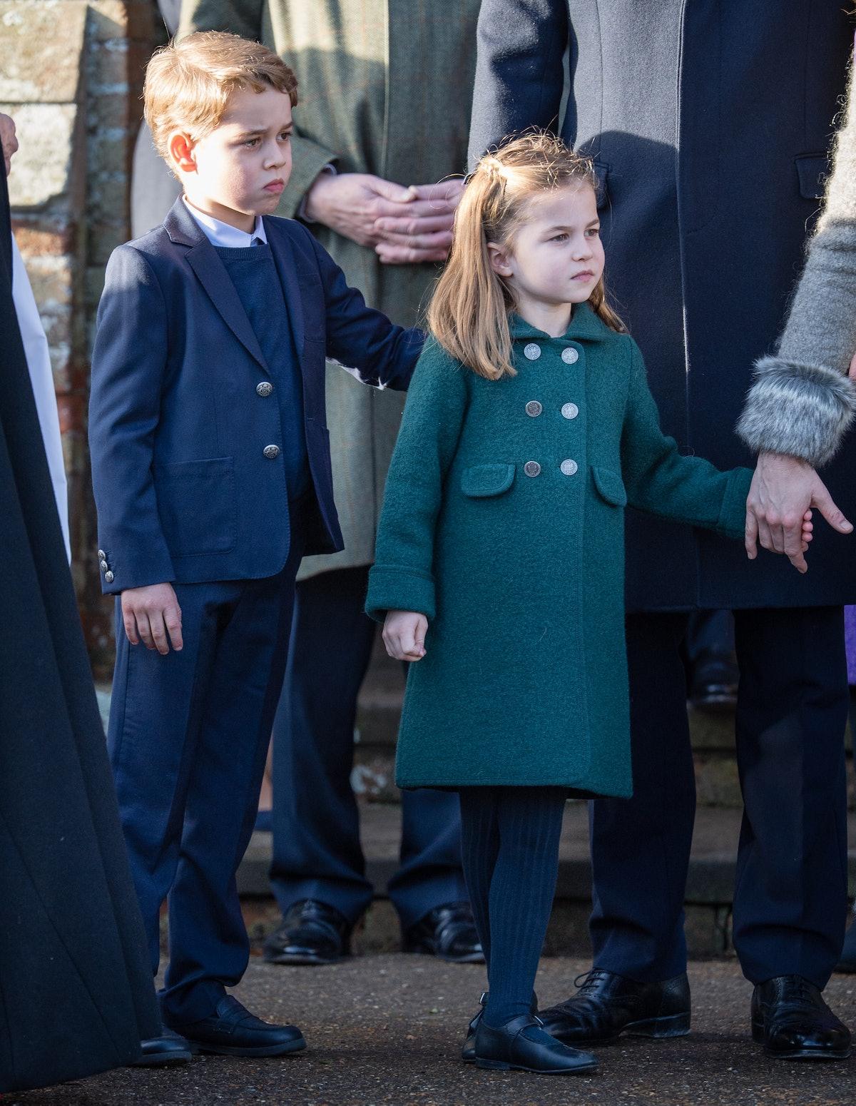 Prince George and Princess Charlotte made their royal Christmas debut on Dec. 25.