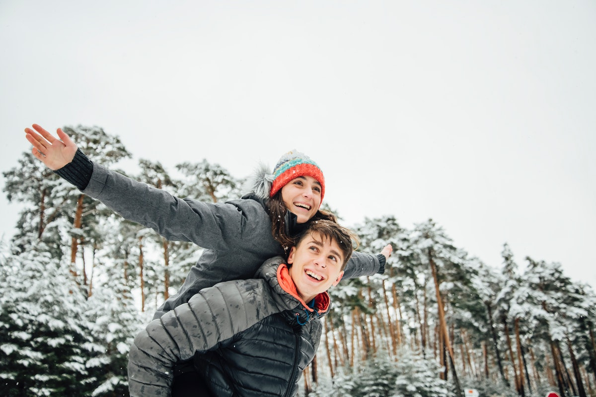 Song lyrics make great Instagram captions for snow days with your partner