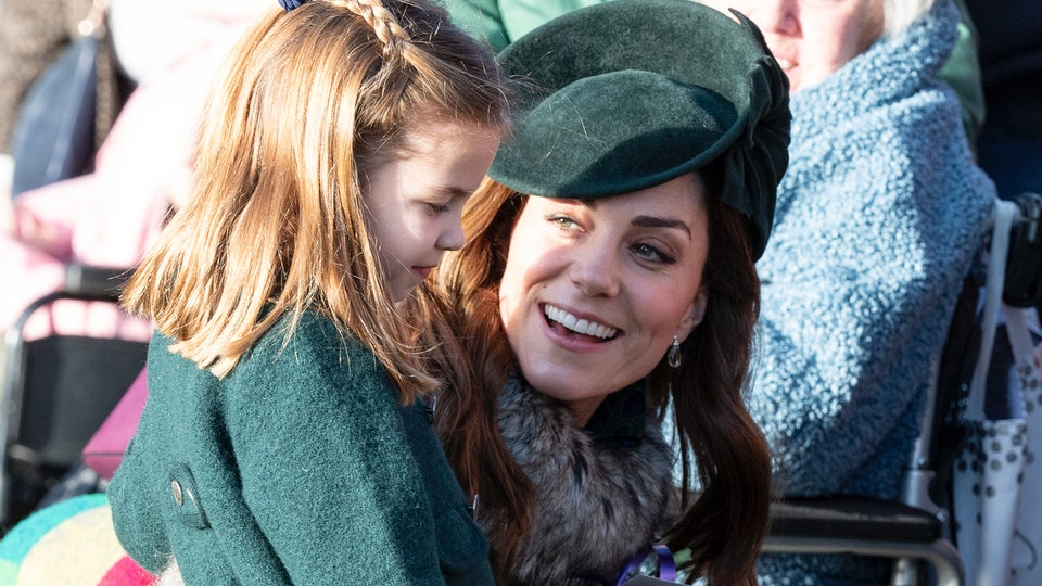 Princess Charlotte performed her first official public curtsy for the Queen this Christmas.