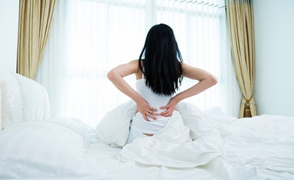 Back and stomach aches could be signs of a UTI.