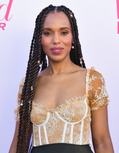Kerry Washington's pearly braids are fit for New Year's Eve
