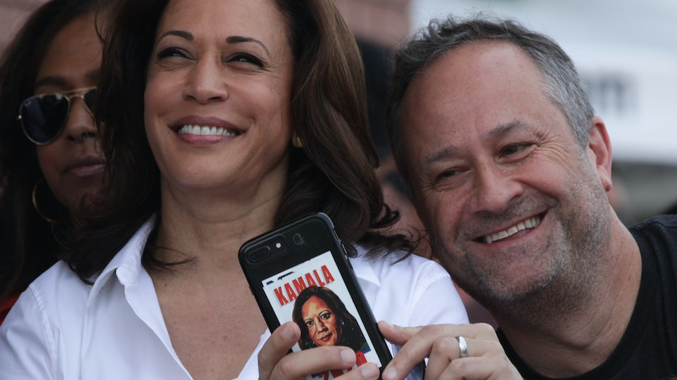 Kamala Harris' husband shared a message of support after she dropped out of the 2020 presidential race on Tuesday.