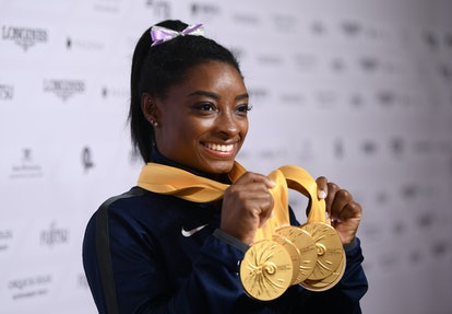 Simone Biles became the most decorated gymnast in World Championships history in October 2019