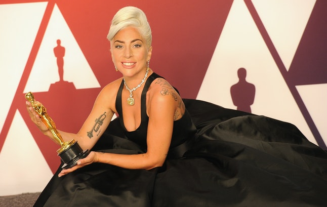 Lady Gaga became the first woman to win four major awards in one year