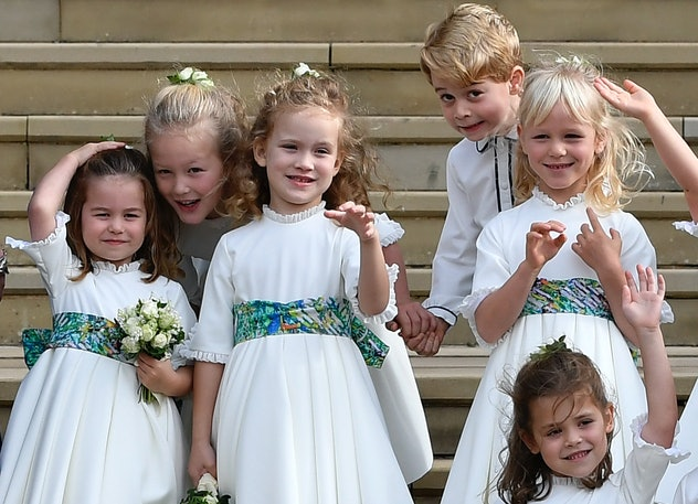 Princess Charlotte and Prince George were in Princess Eugenie's wedding