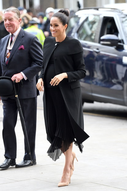 Meghan Markle wore head to toe Givenchy.