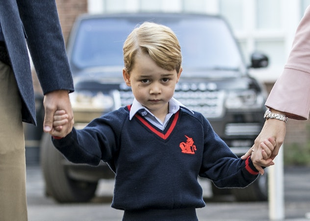 Prince George looked *too cute* for his first day of school
