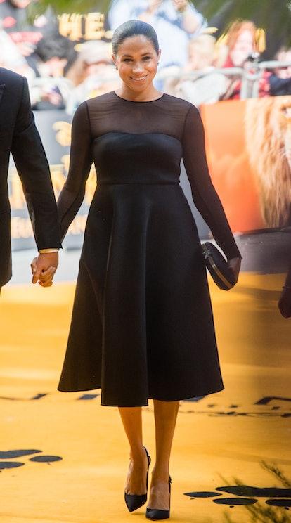 Meghan Markle met Beyonce while wearing Jason Wu.
