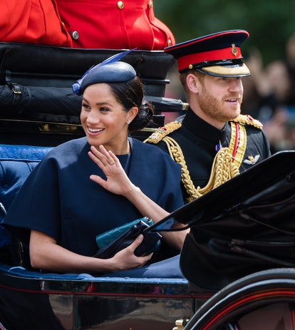 At Trooping the Colours, Markle debuted a newly deigned engagement ring.
