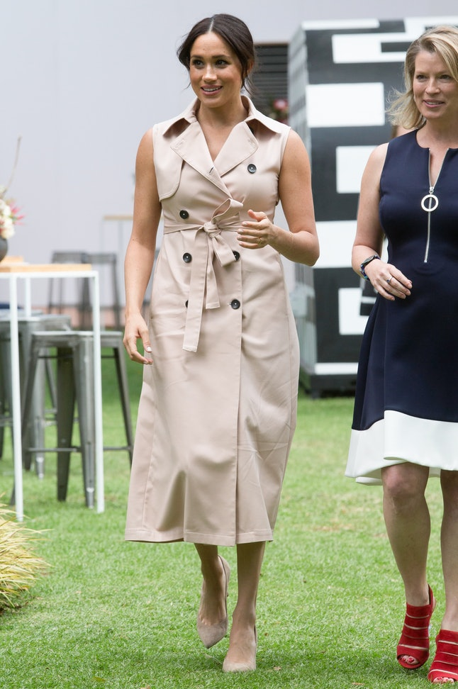 Meghan Markle's Nonie trench dress is a rewear.