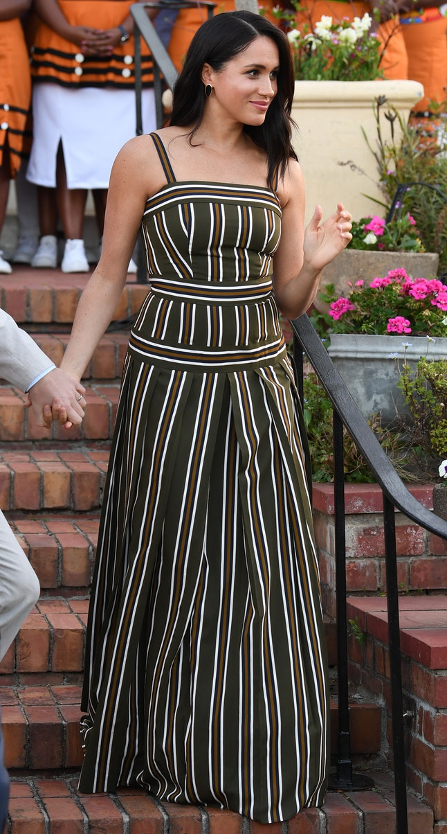 Meghan Markle's Martin Grant maxi dress reappeared in South Africa.