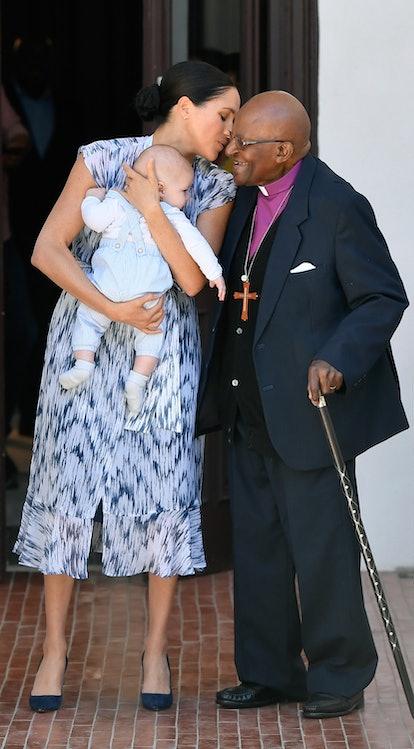 Meghan Markle wore Club Monaco to meet Archbishop Emeritus Desmond Tutu.