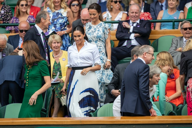 Meghan Markle attended Wimbledon with Kate Middleton.