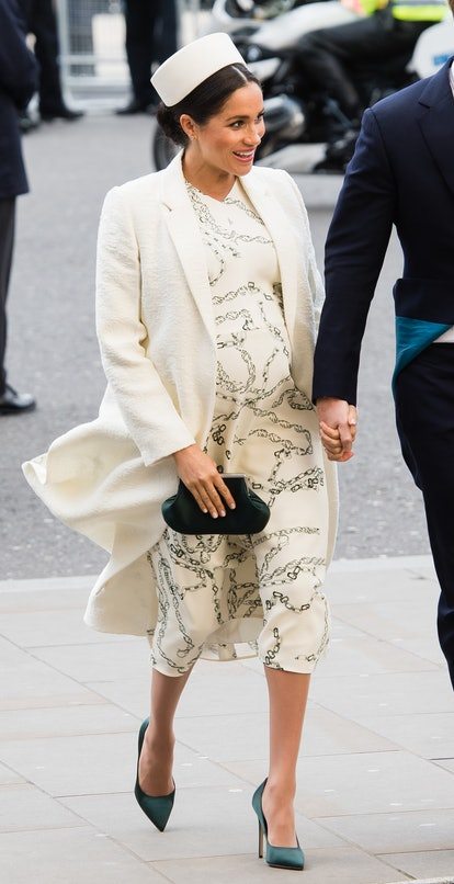 Meghan Markle wore head to toe Victoria Beckham.