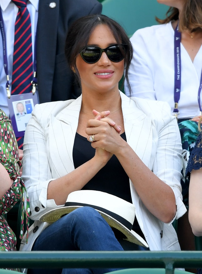 """Meghan Markle's """"A"""" necklace is for her son Archie."""