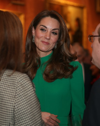 Kate Middleton's diamond earrings were borrowed from the Queen.