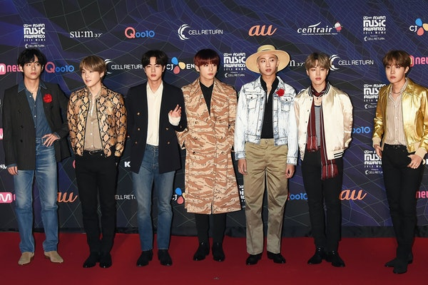BTS hit the red carpet at the MAMA Awards.