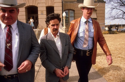 Henry Lee Lucas, featured in Netflix's 'The Confession Killer' being taken away by Texas Rangers in ...