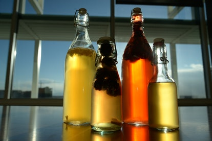 Different varieties of kombucha with added fruits and flavors. Your intake of antioxidants from kombucha depends on which one you choose.