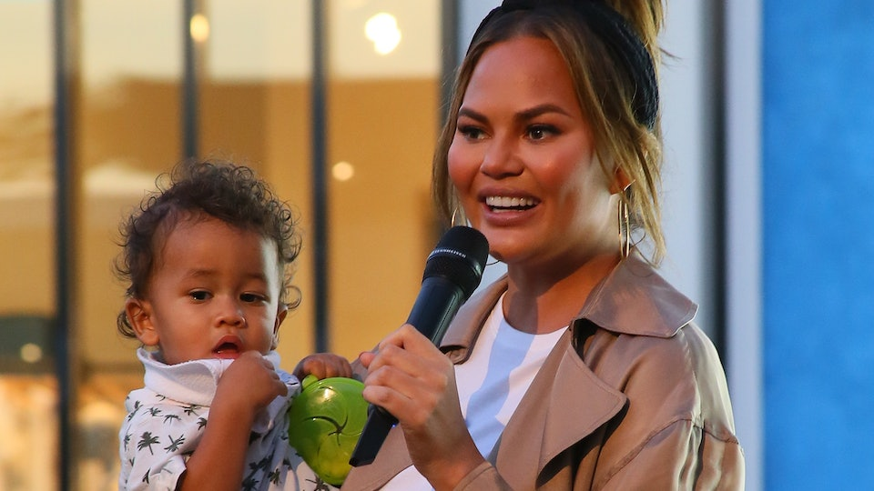 Chrissy Teigen talked about what it's like to be a celebrity parent in a candid Q&A.