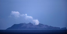 The sudden eruption at White Island was short-lived but produced an ash plume that rose several kilo...