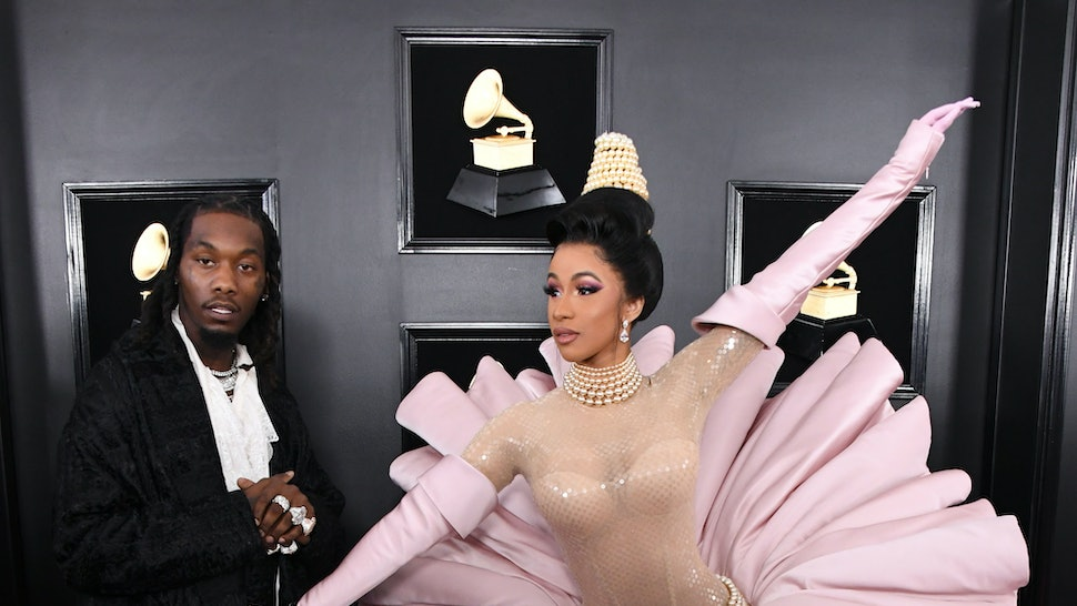 Cardi B S 1 Fan With Giant Tattoo Of Rapper S Face Revealed: Offset's Reaction To Cardi B's Grammy Performance Shows He