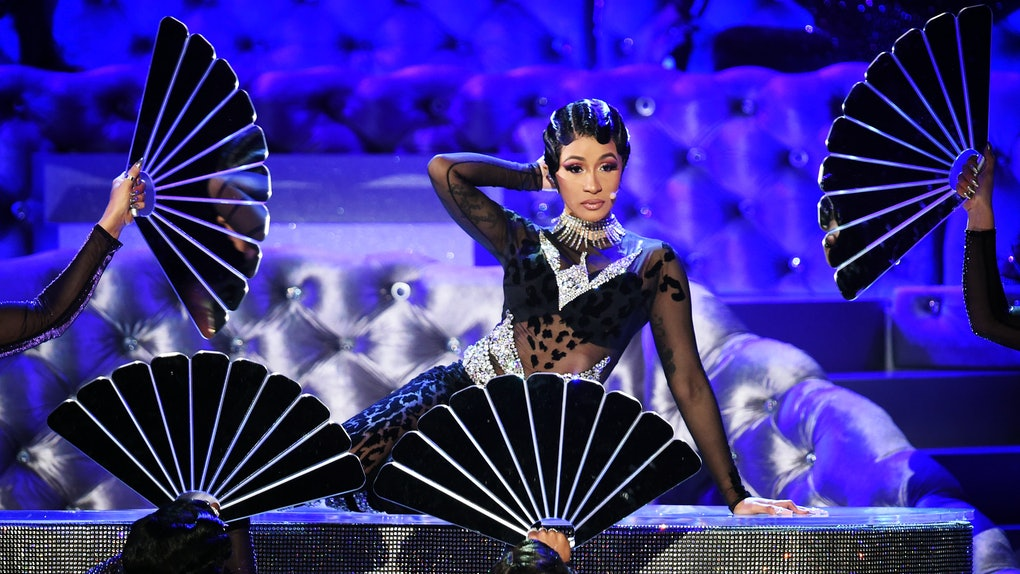 Image result for grammys 2019 cardi b performance