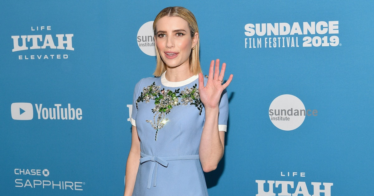 Emma Roberts Dyed Her Hair Back To Brown & It Totally Complements Her Long Bob