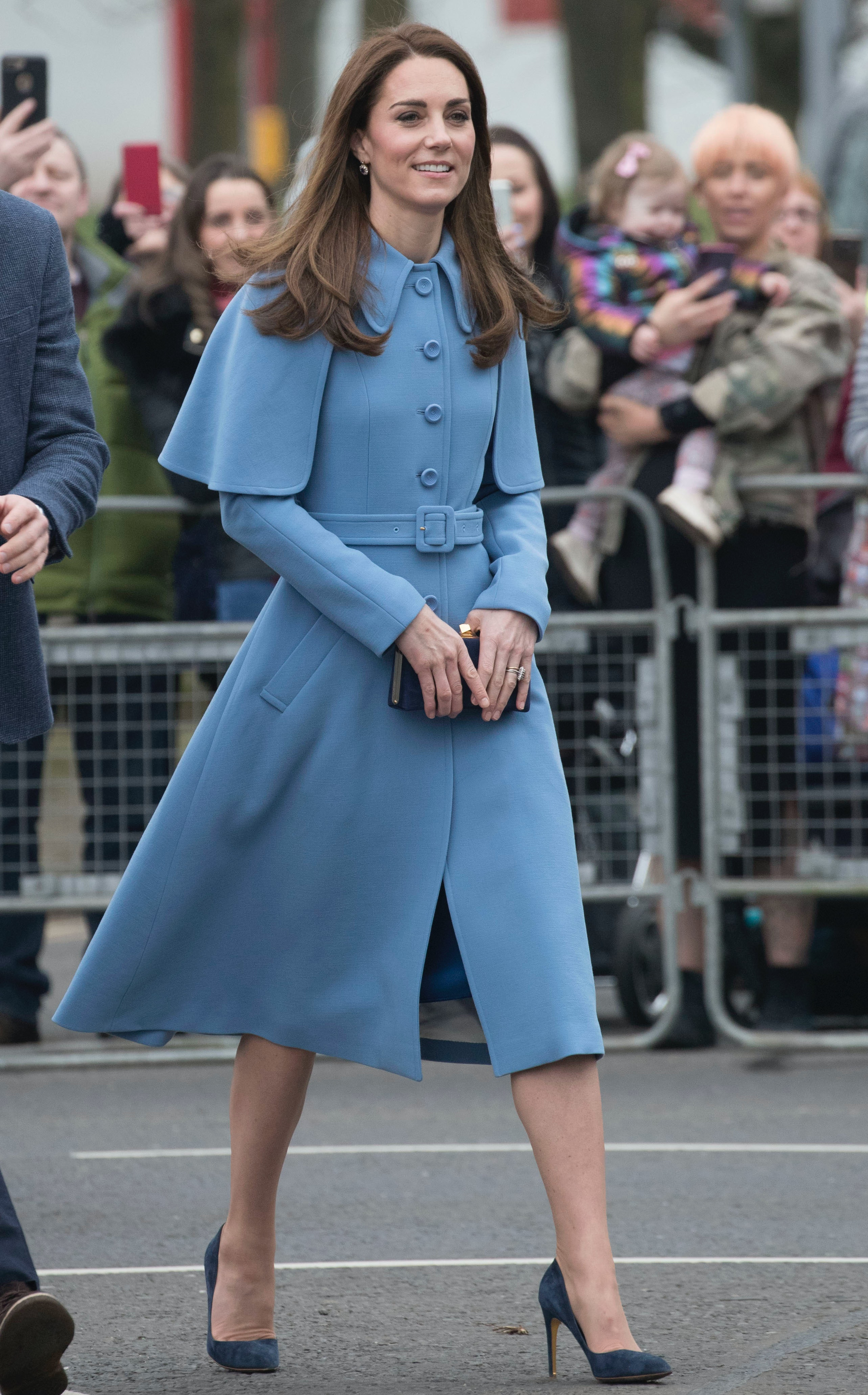 879fc300b91dc Kate Middleton's Powder Blue Coat Dress Will Inspire You To Wear Color This  Season