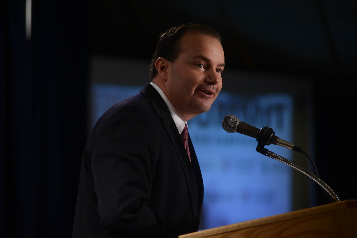Sen. Mike Lee's Green New Deal Rant On The Senate Floor Is Honestly Bonkers