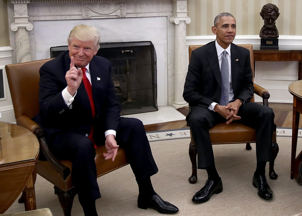 Trump's Body Language At Press Conferences Vs. Obama's Speak To Their Distinct Styles