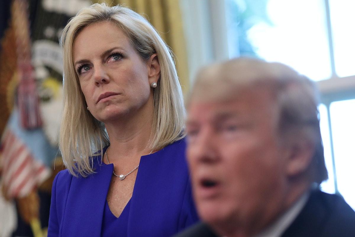 The Number Of Women In Trump's Cabinet After Kirstjen Nielsen Leaves Is Striking