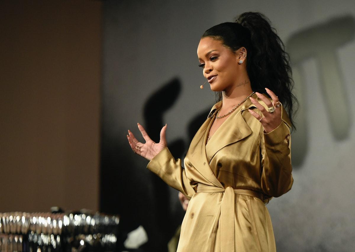 Rihanna's Fenty Fashion Line Includes A Pantsuit, A Shirt Dress, & Much More