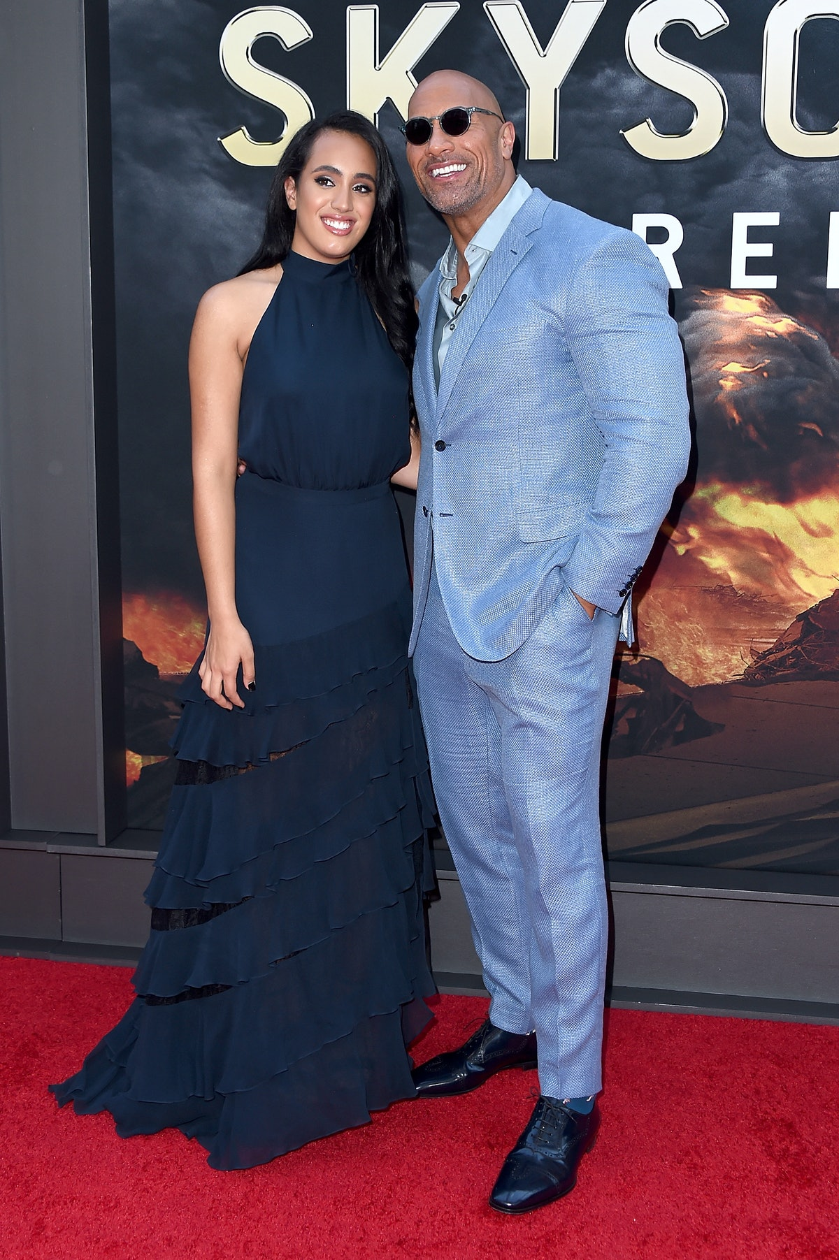 Dwayne Johnson Celebrated His Daughter's High School Graduation With The Most Dad Photos Ever