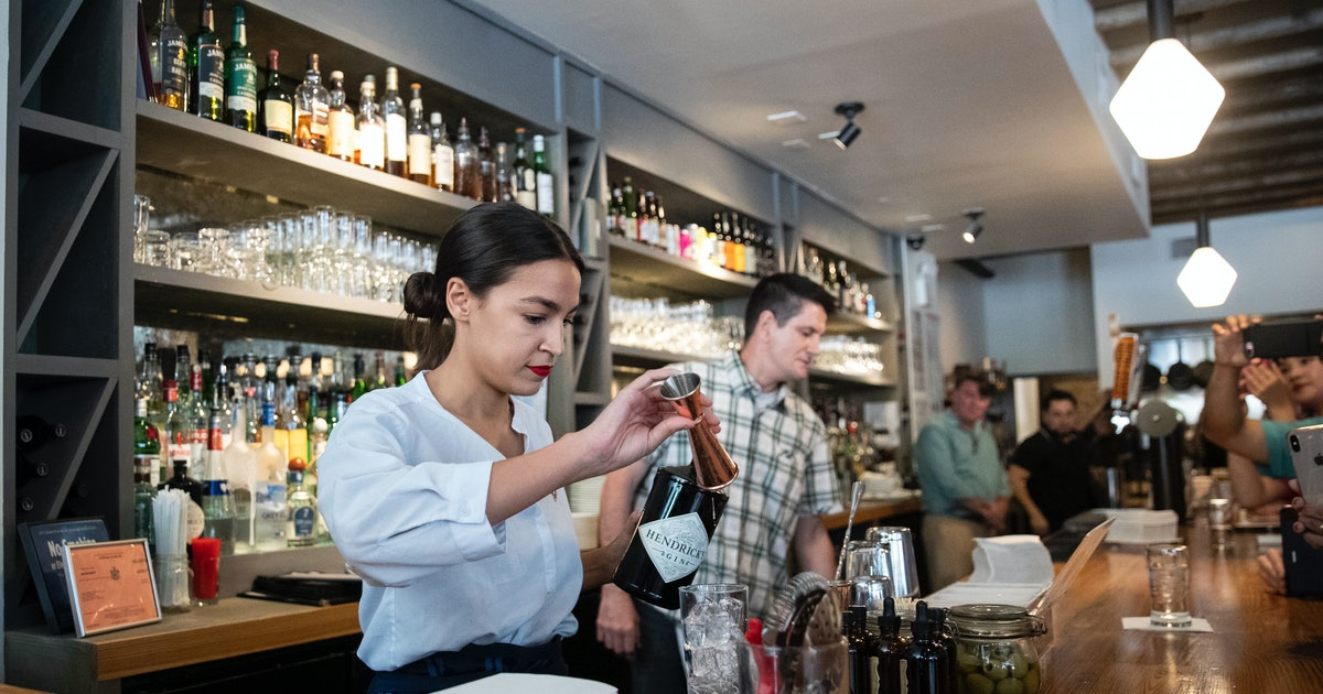 Alexandria Ocasio-Cortez Bartended For A Night To Make A Statement About The Minimum Wage