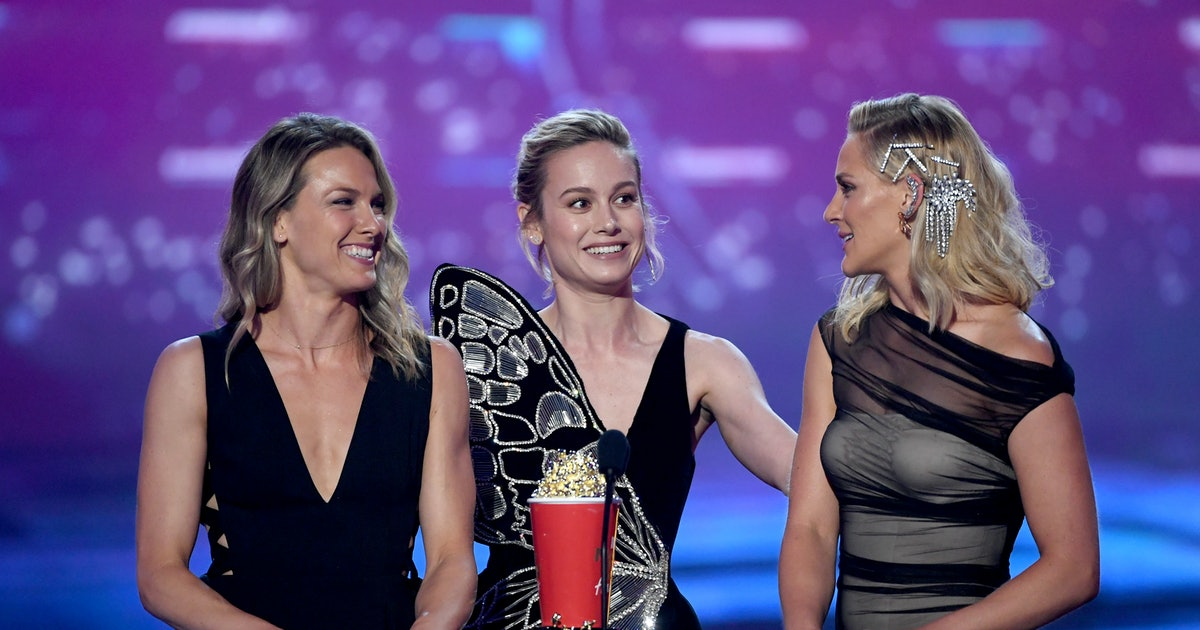 Brie Larson's Stunt Doubles Accepted Her MTV Movie Award For 'Captain Marvel' & We're Not Crying, You Are
