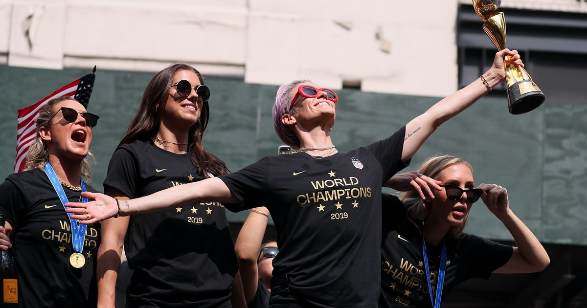 The USWNT Brilliantly Used Their Equal Pay Lawsuit As Confetti For The World Cup Parade