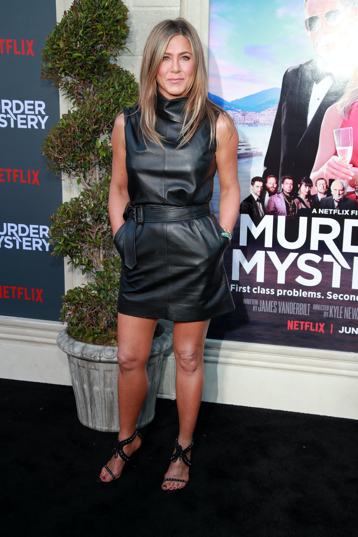 US actress Jennifer Aniston arrives to attend the Los Angeles premiere screening of the Netflix film...