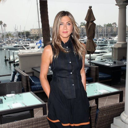 """Jennifer Aniston attends a photocall of Netflix's """"Murder Mystery"""" at the Ritz Carlton Marina Del Rey on June 11, 2019 in Marina del Rey, California."""