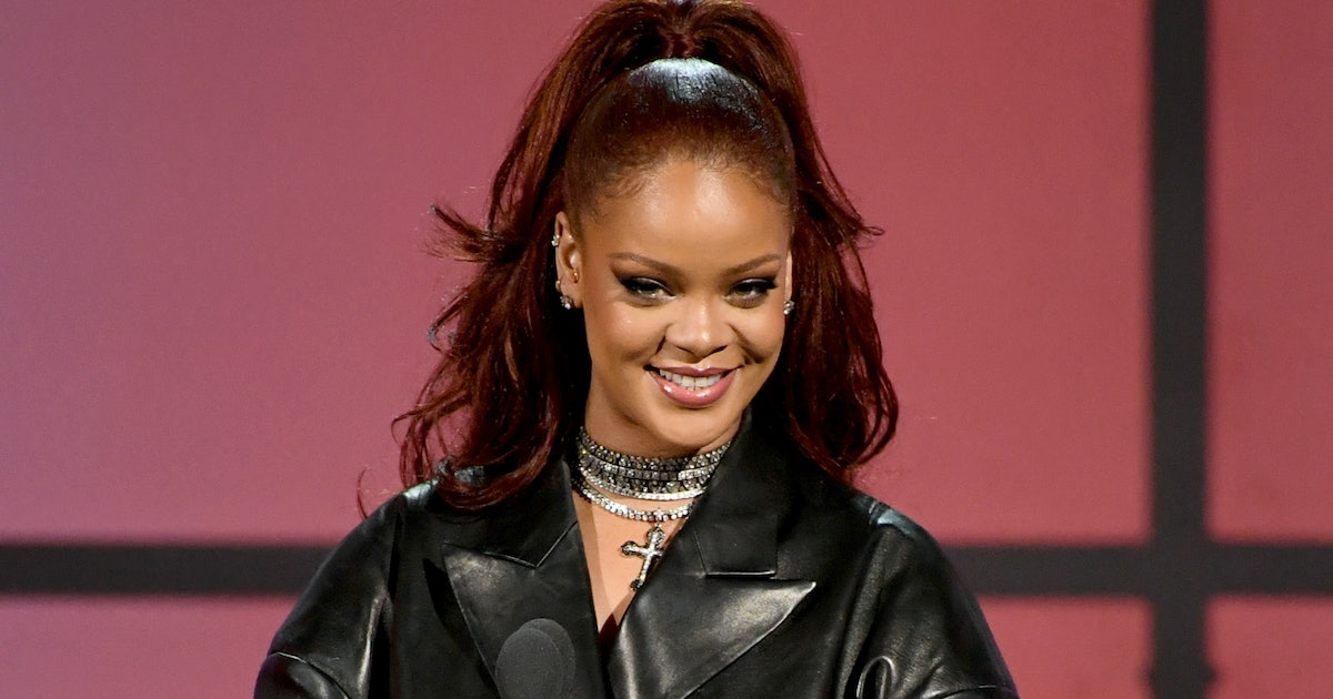 Rihanna's Nanushka Sweater Dress Is About To Become A Necessity In Your Fall Wardrobe