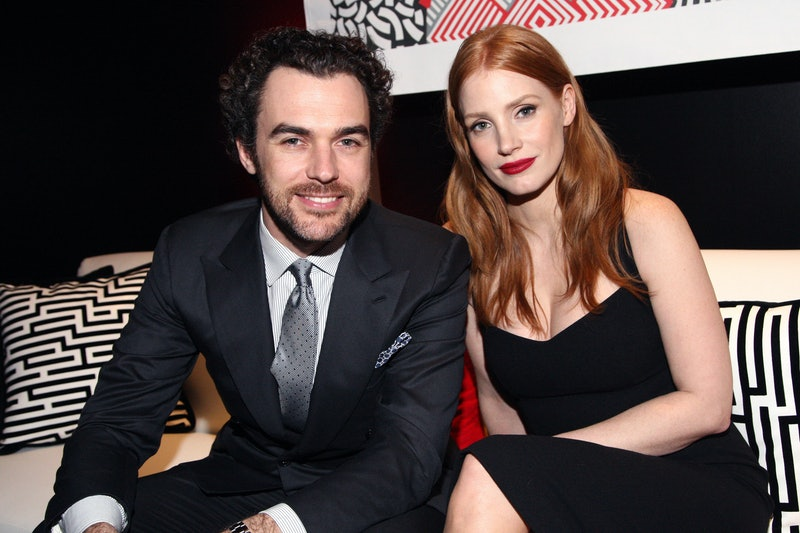 Jessica Chastain and her husband  Gian Luca Passi de Preposulo.