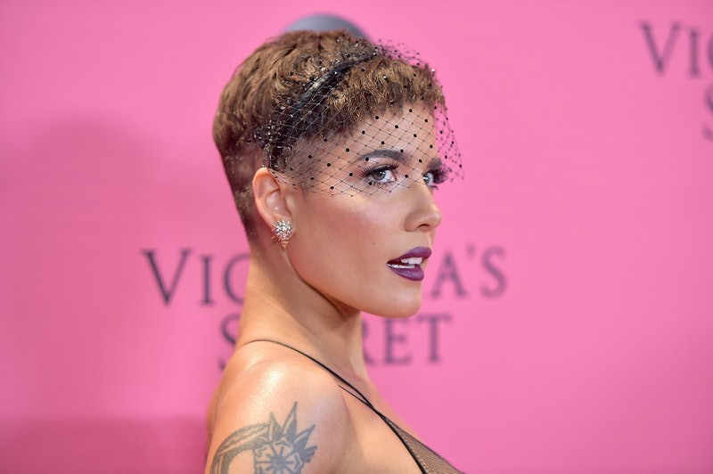 NEW YORK, NY - NOVEMBER 08:  Halsey attends the Victoria's Secret Fashion Show at Pier 94 on November 8, 2018 in New York City.  (Photo by Theo Wargo/Getty Images for Victoria's Secret)