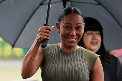 NORTHAMPTON, ENGLAND - JULY 14: Mel B walks in the Paddock before the F1 Grand Prix of Great Britain at Silverstone on July 14, 2019 in Northampton, England. (Photo by Charles Coates/Getty Images)